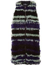 J. Mendel Multi Striped Kalgan Lamb Vest multicolor - Lyst