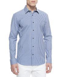 Michael Kors Seith Gingham Sport Shirt - Lyst