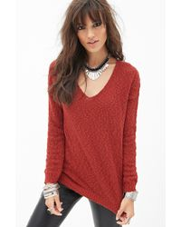 Forever 21 Everyday Open Knit Sweater - Lyst