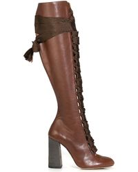 Chloé   Palmer Leather Knee-High Boots    Lyst