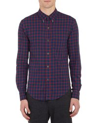 Band Of Outsiders Plaid Flannel Shirt - Lyst