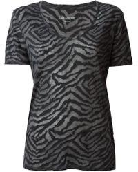 Zadig & Voltaire Anyta Zebra Print T-shirt - Lyst
