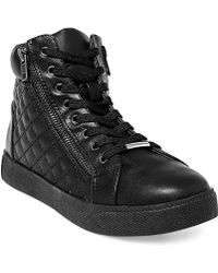 Steve Madden Womens Caffine High Top Quilted Sneakers - Lyst