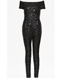 French Connection Cosmic Sparkle Jumpsuit - Lyst