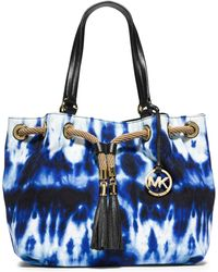 Michael Kors Marina Large Tie-Dye Canvas Tote - Lyst