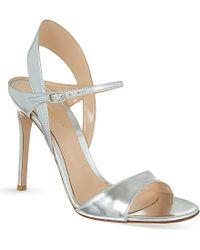 Gianvito Rossi Cagliari Metallic Leather Sandals - For Women - Lyst