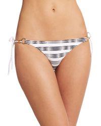 Heidi Klein La Boheme Ring Rope-Tie Bikini Bottom white - Lyst