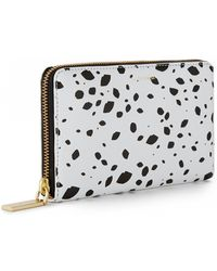 Lulu Guinness Cut Out Spot Grainy Leather Continental Wallet - Lyst