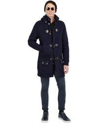Bark Wool Blend Long Duffle Coat - Lyst