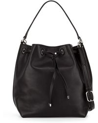 Tory Burch Toggle Drawstring Bucket Bag - Lyst