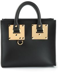 Sophie Hulme Mini Leather Tote - Lyst