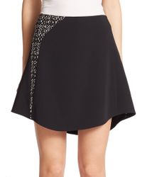 Narciso Rodriguez Tweed-Inset Skirt black - Lyst