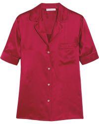 Barbara Casasola | - Silk-satin Shirt - Crimson | Lyst