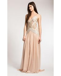 Temperley London Long Sand Strappy Dress brown - Lyst
