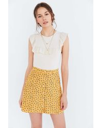 Cooperative - Sally Button-front Mini Skirt - Lyst
