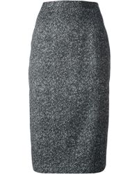 Michael Kors Patterned Pencil Skirt - Lyst