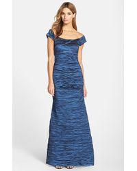 Alex Evenings Taffeta Mermaid Gown - Lyst