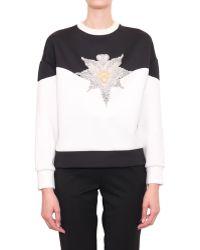 Francesco Scognamiglio Neoprene Sweatshirt With Embroidery - Lyst