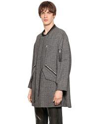 Perdre Haleine Oversized Wool Blend Boucle Effect Coat - Lyst