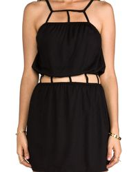 Indah Safi Cut Out Trim Mini Dress in Black - Lyst
