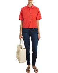 Band of Outsiders Batiste Shirt red - Lyst