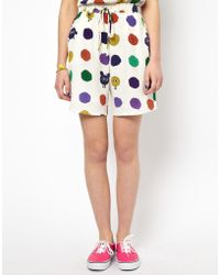 House Of Holland Pom Spot Silk Shorts - Lyst