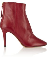 Isabel Marant Purple Leather Boots - Lyst