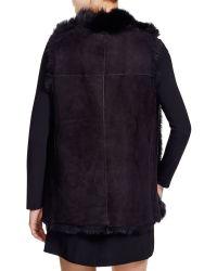 DKNY - Reversible Shearling Vest - Bloomingdale's Exclusive - Lyst