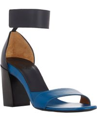 Chloé Two-Tone Ankle-Strap Sandals - Lyst