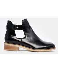 Asos Arkin Cut Out Ankle Boots - Lyst