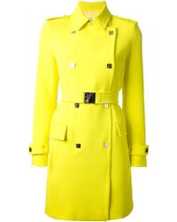 Versace Double Breasted Trench Coat - Lyst