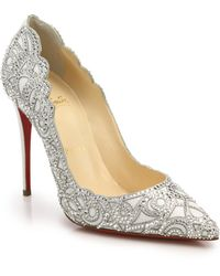 Christian Louboutin Top Vague Crystal Mesh Pumps - Lyst