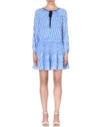 Michael by Michael Kors Abstract Crepe Dress Oxford Blue - Lyst
