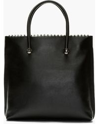 Mugler Black Leather Nut and Bolt Tote Bag - Lyst