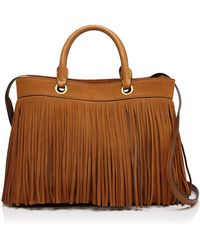 MILLY - Essex Suede Fringe Tote - Lyst
