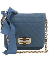 Lanvin Medium Blue Quilted Leather 'Happy Mini Pop' Crossbody Bag - Lyst