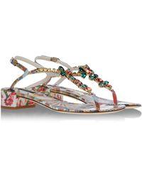 Dolce & Gabbana Sandals white - Lyst