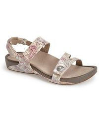 Aetrex - 'paraiso' Quarter Strap Sandal - Lyst