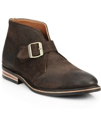 Walk-Over Grove Moka Suede Buckle Ankle Boots brown - Lyst