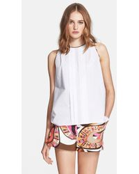 Emilio Pucci Flower Power Print Back Poplin Top - Lyst
