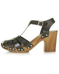 Topshop Nelly Strappy Mid-Heel Sandals - Lyst