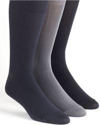 Calvin Klein Microfiber Socks 3pack - Lyst
