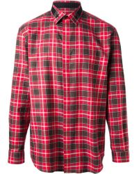Givenchy Classic Plaid Shirt - Lyst