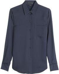Theory Perfect Silk Shirt - Lyst