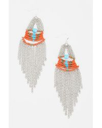 Urban Outfitters Dripping Chains Earring - Lyst