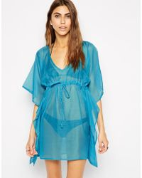 Echo Solid Butterfly Caftan with Braids - Lyst