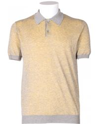 Jil Sander Grey Cotton Polo Shirt - Lyst