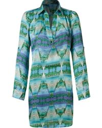 Blue Man - Landscape Prism Shirt Dress - Lyst