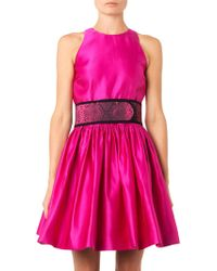 Christopher Kane Belted Duchesssatin Dress - Lyst