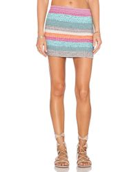 Goddis Colton Mini Skirt multicolor - Lyst